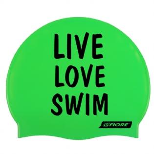 ada488f92 Touca De Silicone Para Natação Live Love Swim
