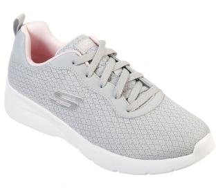 Tênis Skechers Dynamight 2.0 Eye To Eye Light Gray-Pink Feminino